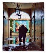 New Orleans Street Photography Fleece Blanket