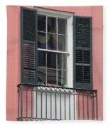 New Orleans Windows 4 Fleece Blanket