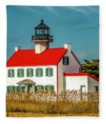 New Paint On East Point Lighthouse Fleece Blanket