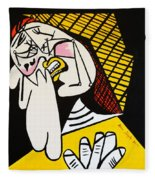 New Picasso The Weeper 2 Fleece Blanket