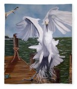 New Point Egret Fleece Blanket