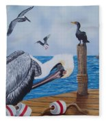 New Point Pelican Fleece Blanket