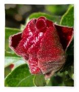 New Red Hibiscus Fleece Blanket