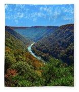 New River Gorge - Autumn Fleece Blanket