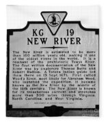 New River Historical Marker Fleece Blanket
