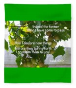 New Things Scripture Fleece Blanket