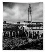 Northern Spire Bridge 6 Fleece Blanket