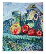 New Work Painted In Pointillism  Fleece Blanket