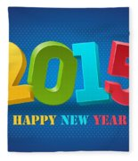 New Year 2015 Fleece Blanket