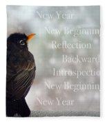New Years Card Fleece Blanket