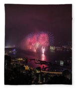 New Year's Eve Fireworks  Fleece Blanket