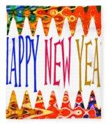 New Year's Greetings Fleece Blanket