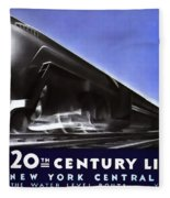 New York 20th Century Limited Train  1938 Fleece Blanket