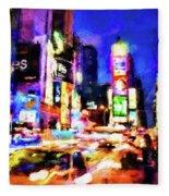 New York At Night - 15 Fleece Blanket