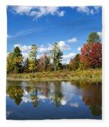 New York Autumn Landscape Fleece Blanket