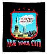 New York Big Apple Design Fleece Blanket