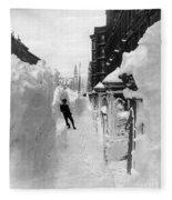 New York: Blizzard Of 1888 Fleece Blanket