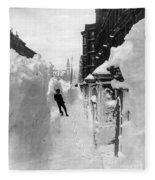 New York: Blizzard Of 1888 Fleece Blanket