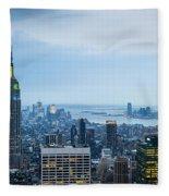 New York Blues Fleece Blanket