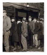 New York: Bread Line, 1907 Fleece Blanket