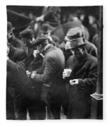 New York: Bread Line, 1915 Fleece Blanket