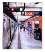 New York City Broadway Subway Station Fleece Blanket