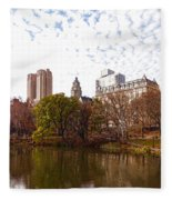 New York City Central Park Living - Impressions Of Manhattan Fleece Blanket