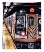 New York City Charles Street Subway Station Fleece Blanket