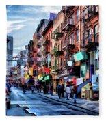 New York City Chinatown Fleece Blanket