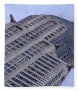 New York City - Chrysler Building 002 Fleece Blanket