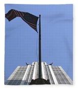 New York City - Chrysler Building 003 Fleece Blanket