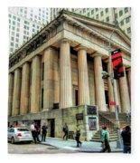New York City Federal Hall Fleece Blanket