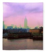 New York City From Hoboken Fleece Blanket