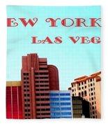 New York City- Las Vegas Fleece Blanket