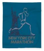 New York City Marathon3 Fleece Blanket