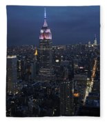 New York City Nights Fleece Blanket