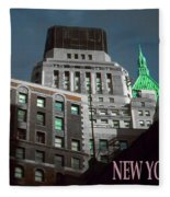 New York City Poster - Wall Street Fleece Blanket