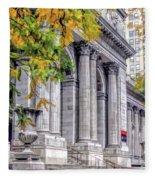 New York City Public Library Fleece Blanket