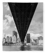 New York City - Queensboro Bridge Fleece Blanket