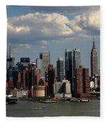 New York City Skyline 4 Fleece Blanket