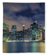 New York City Skyline Fleece Blanket