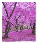 New York City Springtime Fleece Blanket