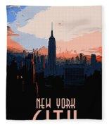 New York City Sunset Fleece Blanket
