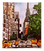 New York City Taxis Fleece Blanket