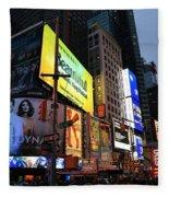 New York City Times Square Fleece Blanket