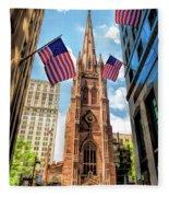 New York City Trinity Church Fleece Blanket