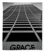 New York City - W. R. Grace Building Fleece Blanket