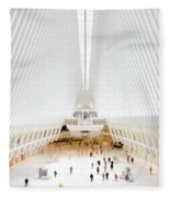New York City World Trade Center Oculus Fleece Blanket