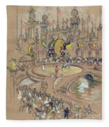 New York, Coney Island, C1906.  Fleece Blanket