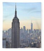 New York Empire State Building Fleece Blanket